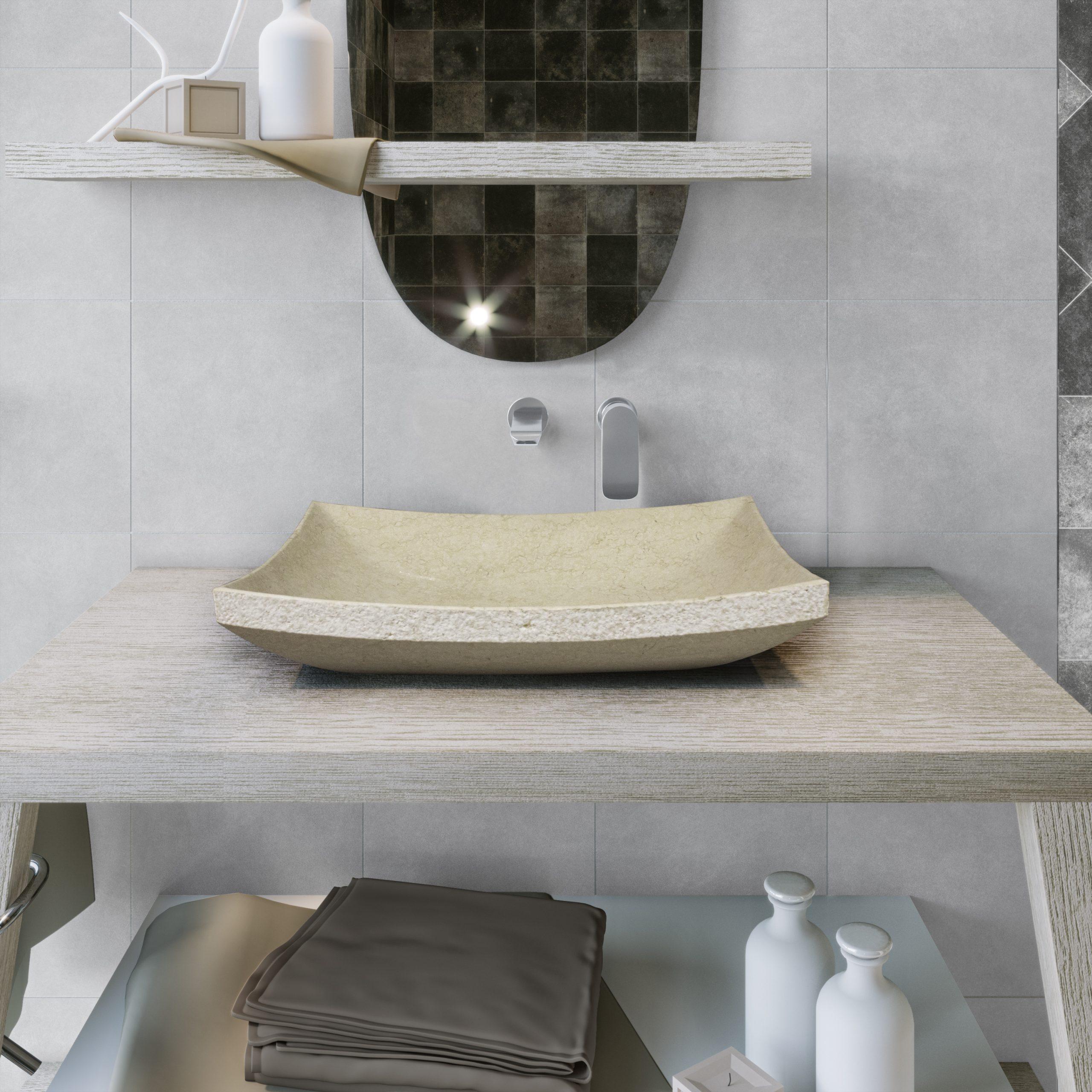 Lavabo de piedra para baño